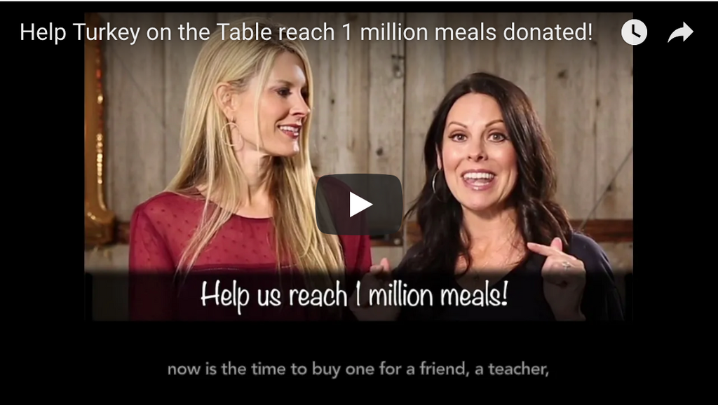 Help Turkey on the Table reach 1 million meals donated!