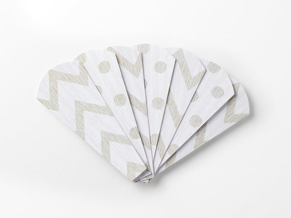 Turkey on the Table® replacement Thankful Feathers™- Chevron/Polka Dot, pack of 13 feathers