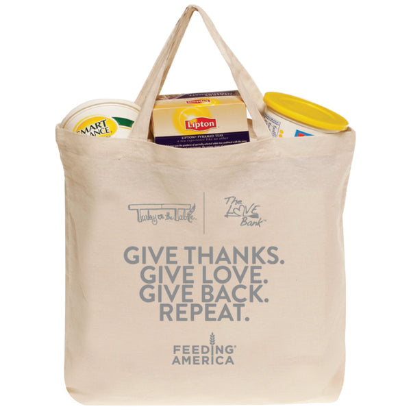 Give Thanks. Give Love. Give Back. Repeat. Tote Bag