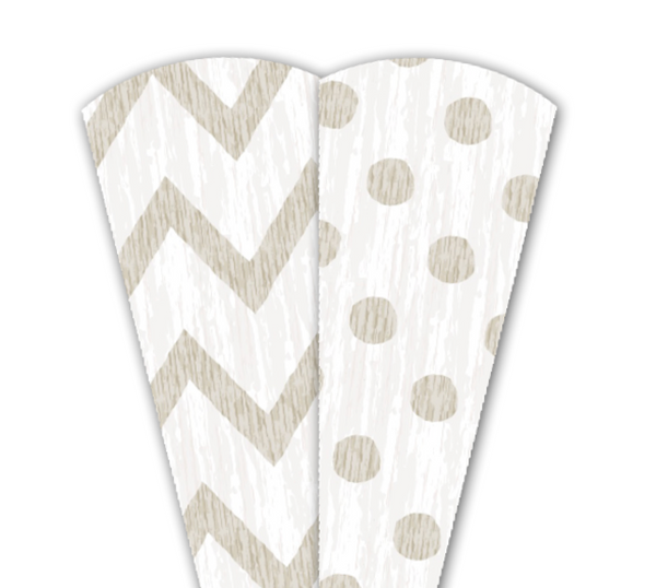 Turkey on the Table® replacement Thankful Feathers®- Chevron/Polka Dot