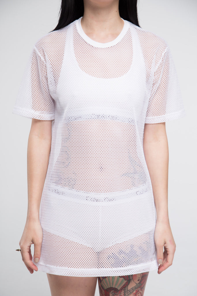 All Meshed Up T-Shirt Dress - So International   - 4