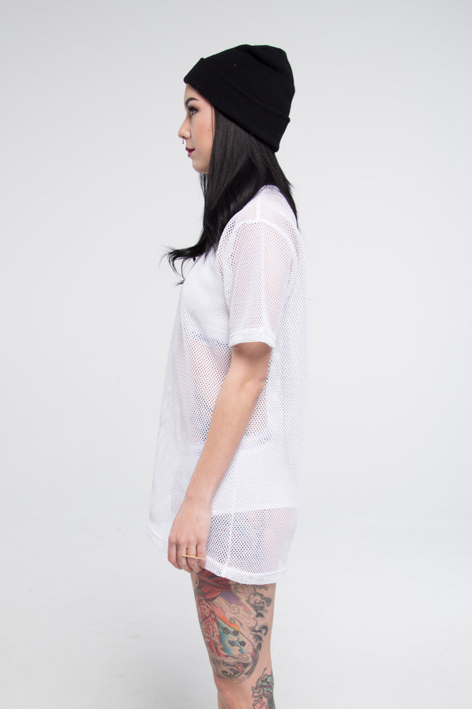 All Meshed Up T-Shirt Dress - So International   - 2