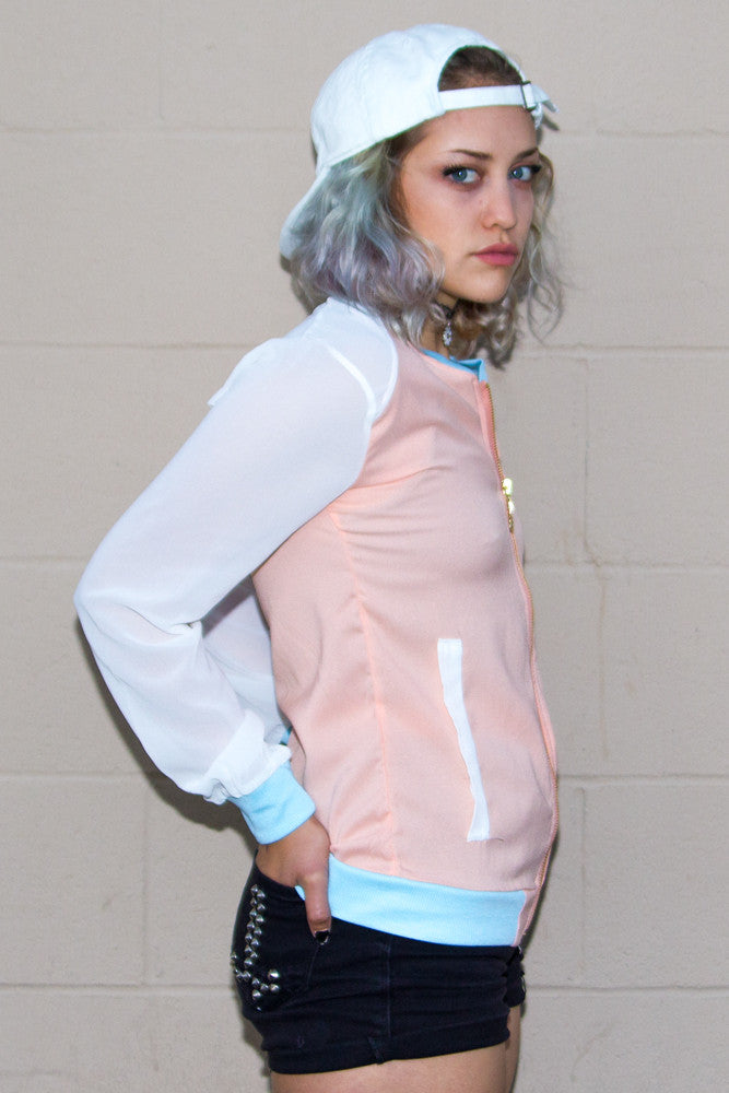 Pastel Lightweight Bomber Jacket - So International   - 2