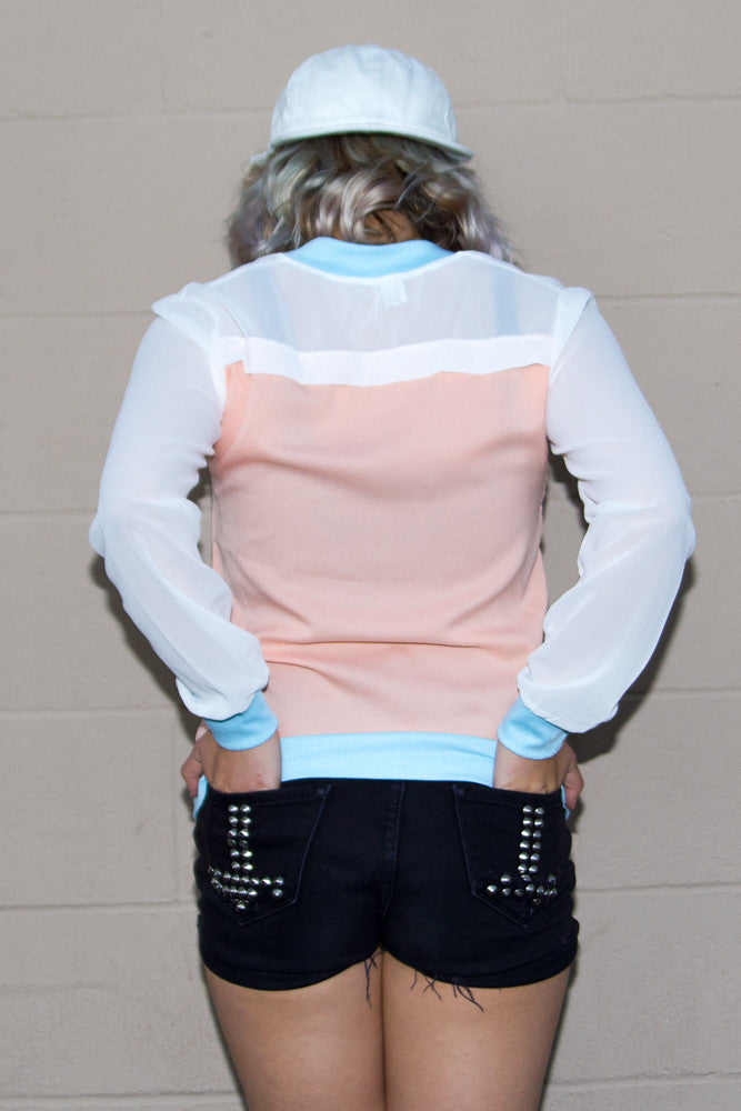 Pastel Lightweight Bomber Jacket - So International   - 3