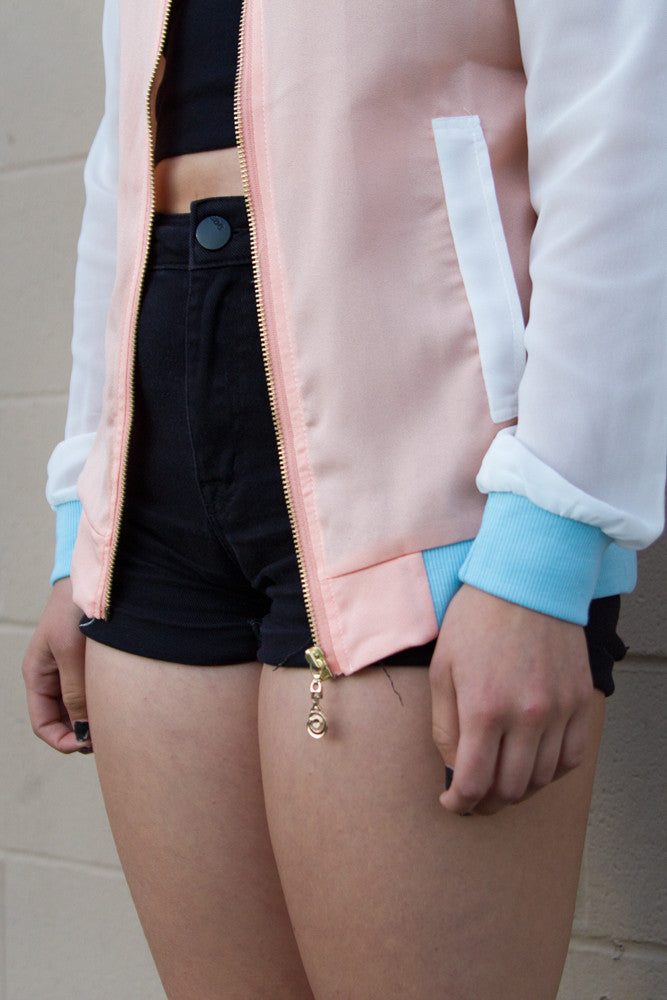 Pastel Lightweight Bomber Jacket - So International   - 4