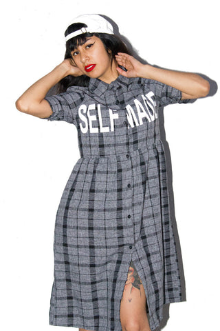Self Made Plaid Dress - So International   - 1