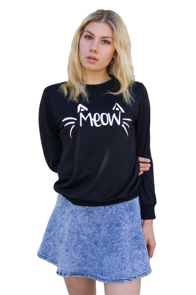 Meow Sweater - So International   - 2