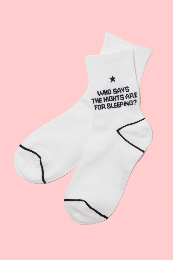 'Who Says Nights are for Sleeping?' Socks - So International   - 1