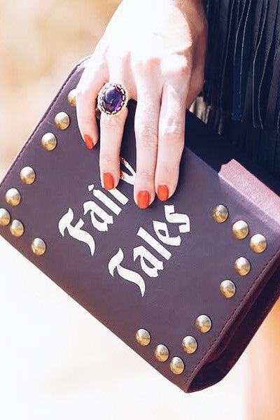 FAIRY TALES VEGAN LEATHER BOOK CLUTCH - So International   - 1