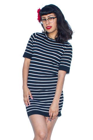 Stripe Bodycon Dress - So International   - 1