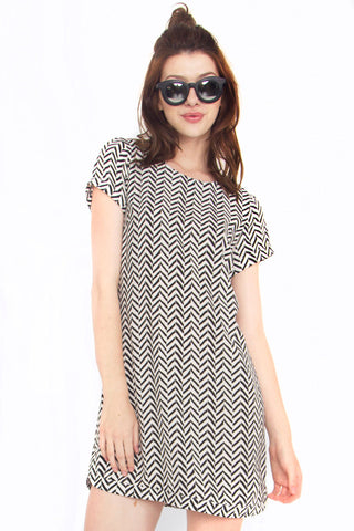 Chevron Dress - So International   - 1