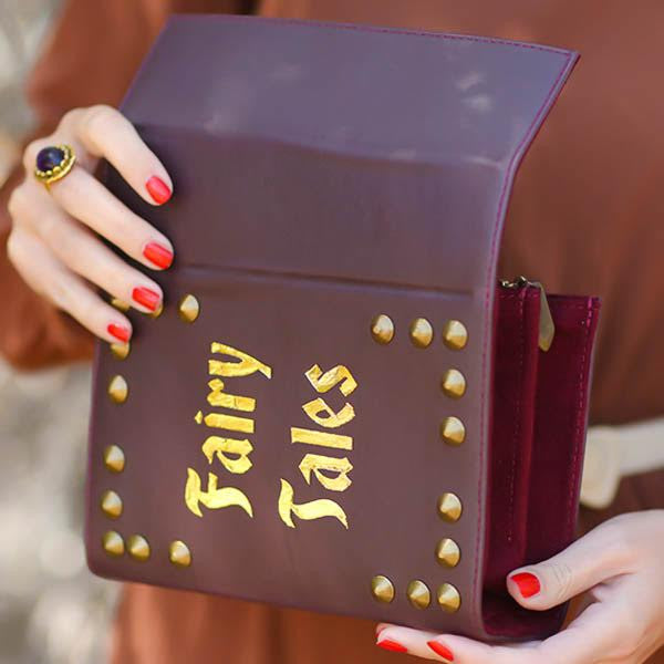 FAIRY TALES VEGAN LEATHER BOOK CLUTCH - So International   - 2