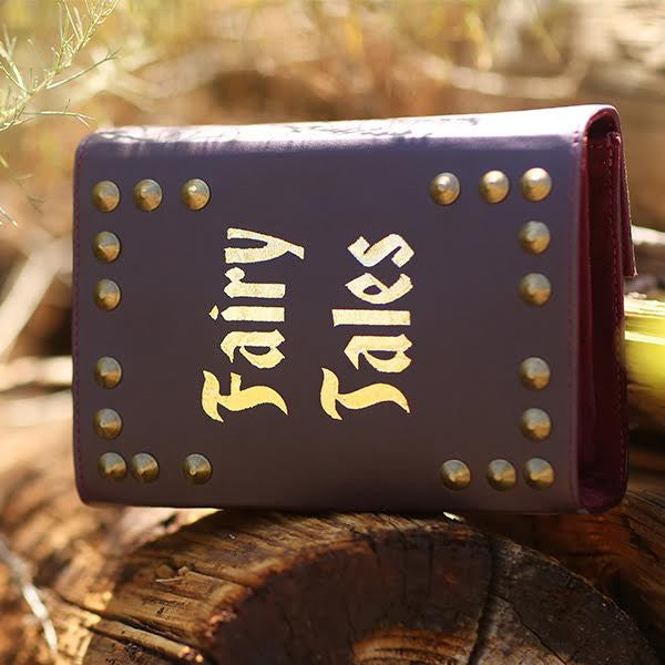 FAIRY TALES VEGAN LEATHER BOOK CLUTCH - So International   - 3