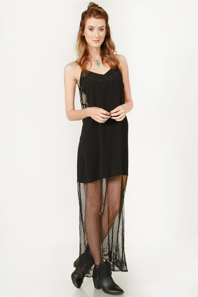 Laced Maxi Dress - So International   - 2