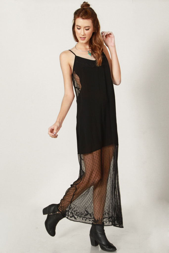 Laced Maxi Dress - So International   - 4