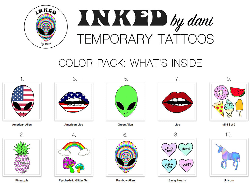 INKED by dani Temporary Tattoos: Color Pack - So International   - 1
