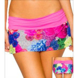 Swim Systems Floral Fusion Banded Skirt A282