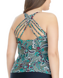 Island Waves Olive Floral Strappy Back Y831050