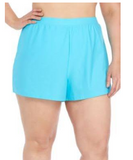 Beach Diva Signature Solids Swim Shorts 100386MDG