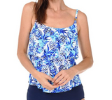 24th & Ocean Pina Party Tiered Tankini TF8MJ88