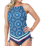 24th & Ocean Viva La Frida Handkerchief Tankini TF8L687