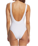 Aerin Rose Anza Stripe White Opal Dusk One Piece 106