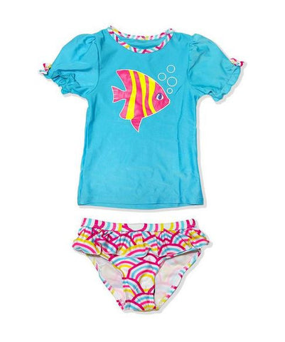 Jump N Splash Girls Rash Guard Set R5G0203