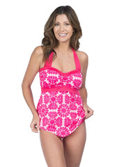 24th & Ocean Medallion Retro Tankini TF6L383