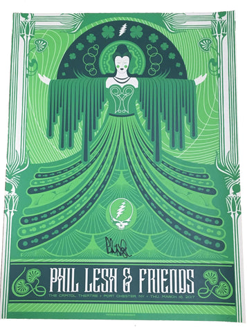 Autographed Phil Lesh & Friends Poster 3/16/17