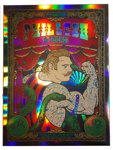 Phil Lesh & Friends 9/14/16 Coney Island Foil Poster