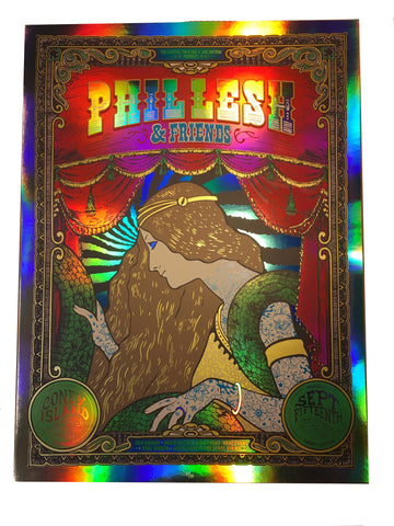 Phil Lesh & Friends 9/15/16 Coney Island Foil Poster