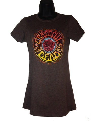 American Beauty Brown Ladies Cut Tee