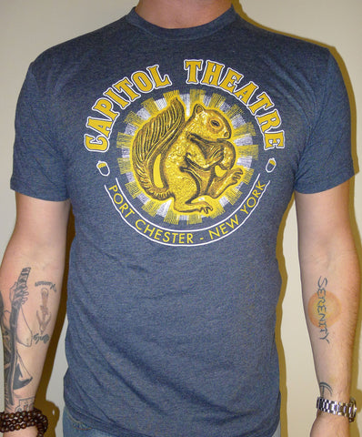 The Capitol Theatre Squirrel T-Shirt (Heather Navy)