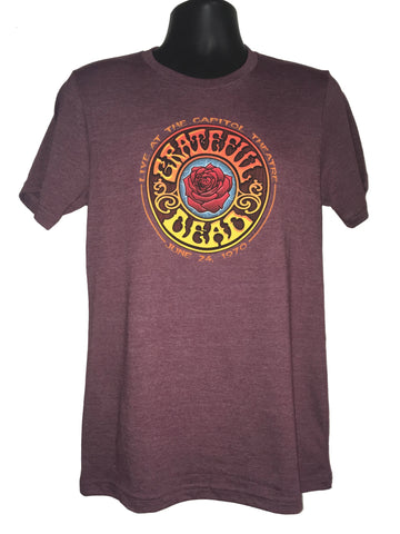 American Beauty Heather Maroon Tee