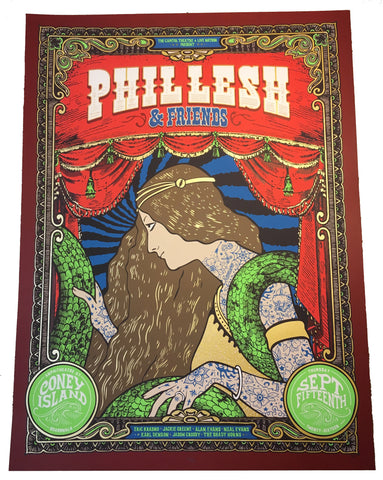 Phil Lesh & Friends Delilah Poster Coney Island 9/15/16