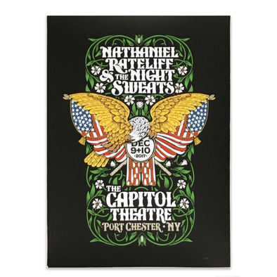 Nathaniel Rateliff & The Night Sweats Poster ~ 12/09 - 12/10/2017
