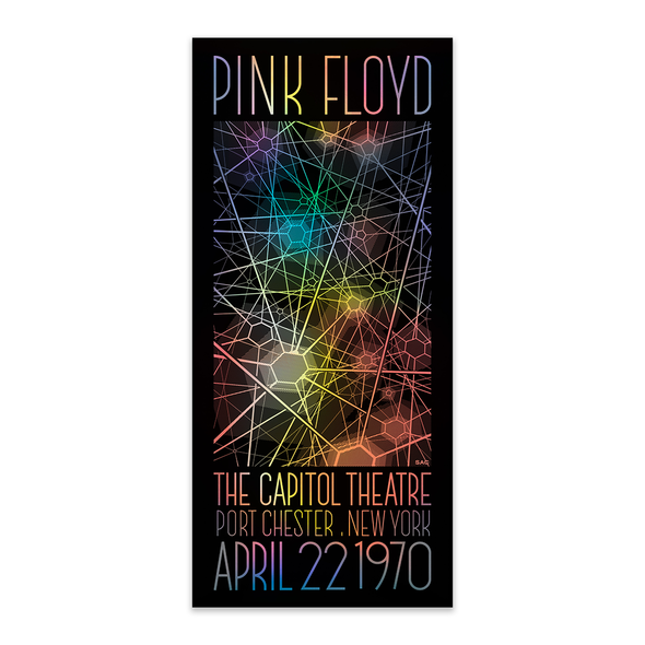 Limited Edition Pink Floyd Foil Poster - 4/22/1970 at The Capitol Theatre