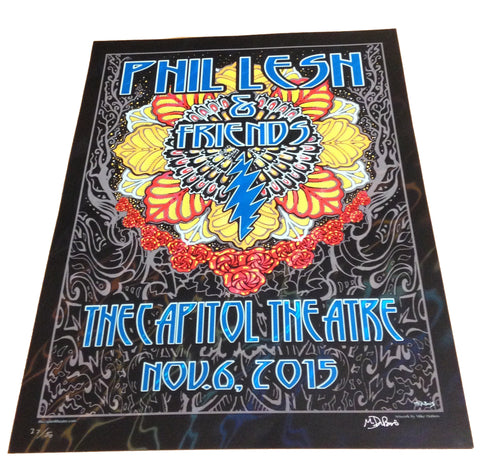 Phil Lesh & Friends November 6, 2015 Foil Poster