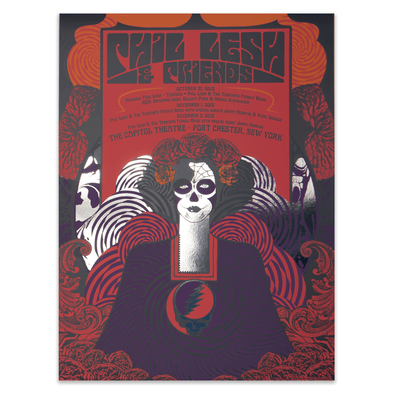 Phil & Friends Halloween Run Foil Poster - Justin Helton