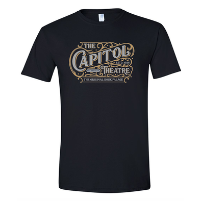 Victorian Style Capitol Theatre T-Shirt in Black with Metallic Inks