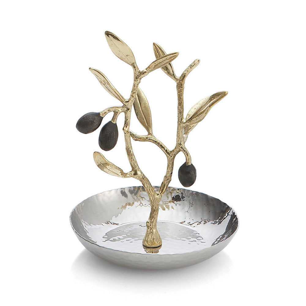 Olive Branch Gold Ring Catch