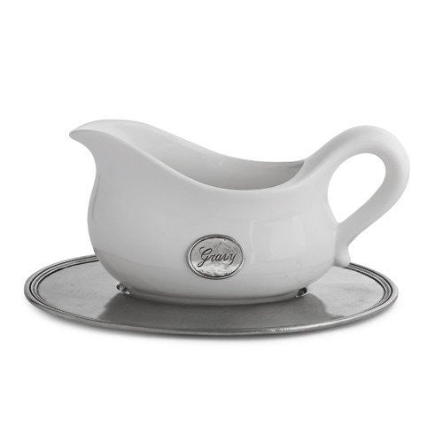 Tuscan Gravy Boat with Tray