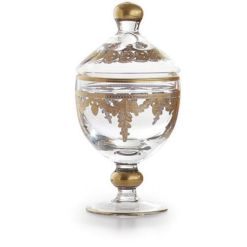 Baroque Gold Canister W/ Lid