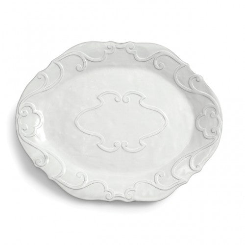 Bella Bianca Ribbon Oval Platter