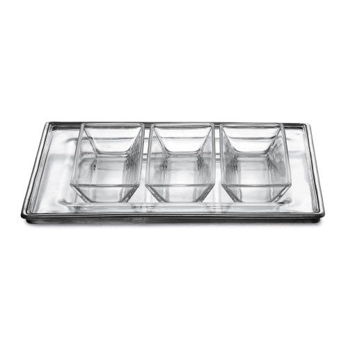 Tavola Rectangular Tray with Dipping Bowls