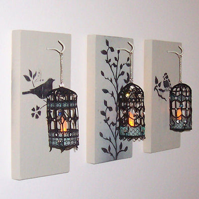 Machine embroidery in the hoop ITH FSL freestanding lace birdcage tea light holder