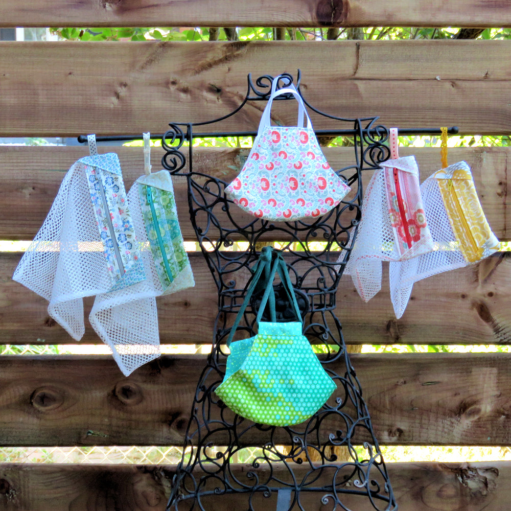 StitchSoup Machine Embroidery in the hoop ITH Mesh Bags