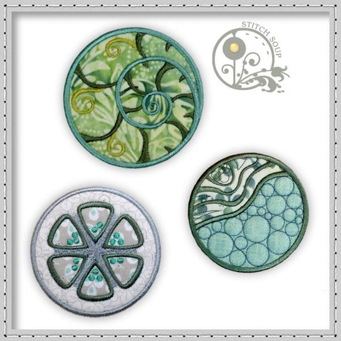 Machine embroidery applique circles