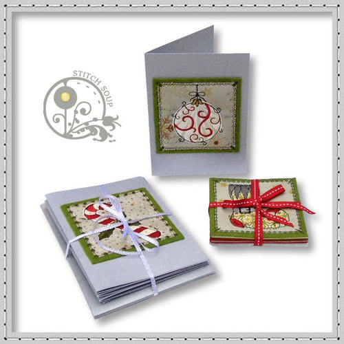 Machine embroidery in the hoop ITH Christmas cards