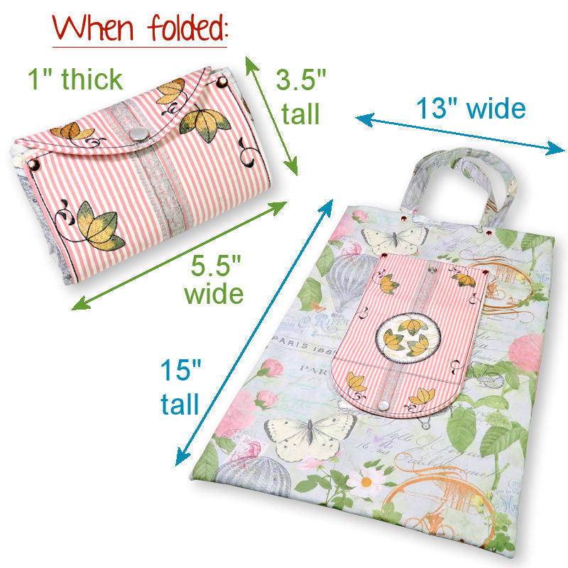 StitchSoup Machine Embroidery Folding Tote Bags